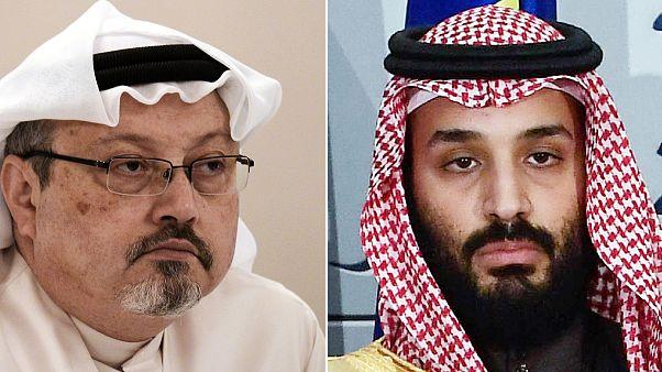 ولي العهد السعودي محمد بن سلمان والكاتب الصحفي السعودي جمال خاشقجي