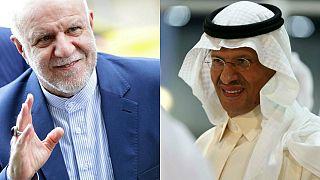 İran Petrol Bakanı Bijen Zengene / Suudi Arabistan Petrol Bakanı Prens Abdülaziz bin Selman