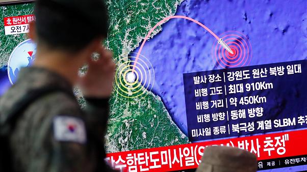 Eκτόξευση βαλιστικών βλημάτων από την Β. Κορέα