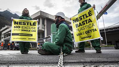 Stop Plastic Action at San Pellegrino Nestlé Plant in Italy