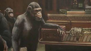Átruházott parlament - árverésen Banksy festménye