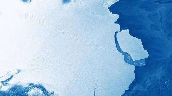 The new D28 Iceberg just that calved away from Amery ice shelf