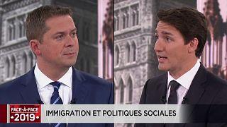 Législatives au Canada : Justin Trudeau à l'attaque