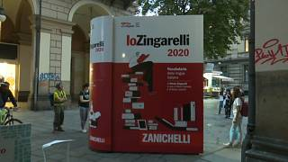 Watch: Giant dictionary highlights Italian words at risk of disappearing