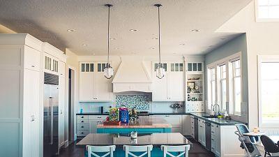Fridge, home appliances in Kitchen