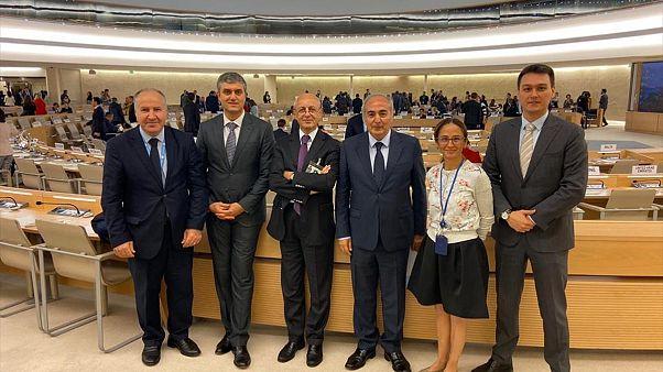 Emekli Büyükelçi Erdoğan İşcan (sol 3), BM İşkenceye Karşı Komite üyeliğine seçildi
