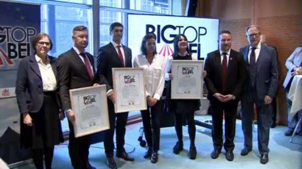 """Parlamento Europeu entrega Prémio """"Big Top Label"""" a três circos"""