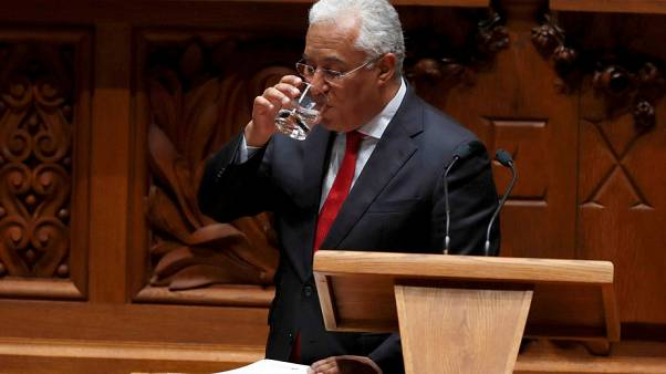 Portugal's Prime Minister Antonio Costa addresses the nation from Sao Bento Palace, in Lisbon, Portugal, May 3, 2019.