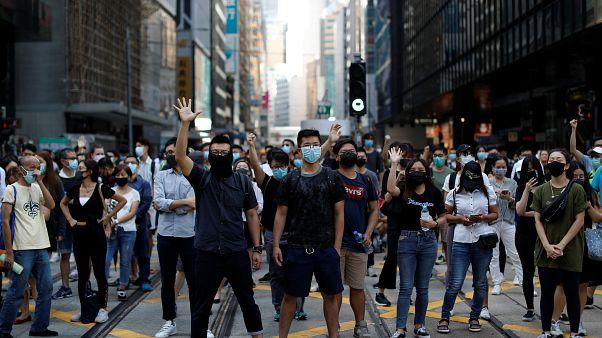Protestas en Hong Kong contra la ley antimáscaras
