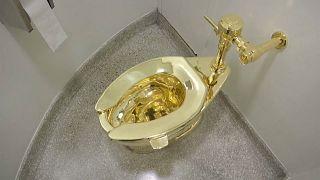 İngiltere'de çalınan 'America' isimli altın klozet için 125 bin dolar para ödülü