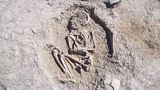 Arslantepe Höyüğü'ndeki kazılarda 5700 yıllık çocuk iskeleti bulundu