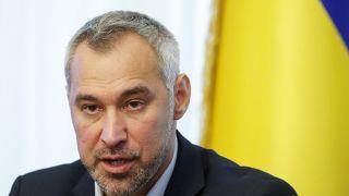 Ukraine's Prosecutor General Ruslan Ryaboshapka speaks during a news conference in Kiev, Ukraine October 4, 2019