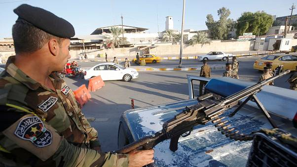 Irak'ın başkenti Bağdat'ta bir kontrol noktası