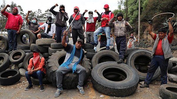 Ausschreitungen in Ecuador - Präsident sagt Deutschlandbesuch ab
