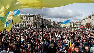 مخالفت هزاران اوکراینی با طرح صلح رئیس جمهوری: «نه به تسلیم»