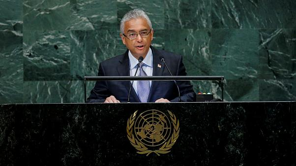 FILE PHOTO: Mauritius Prime Minister Pravind Kumar Jugnauth addresses the 73rd session of the United Nations General Assembly at U.N. headquarters in New York
