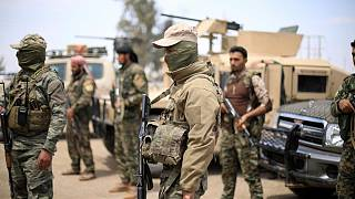 Fighters of Syrian Democratic Forces (SDF) are seen in Deir al-Zor, Syria May 1, 2018.