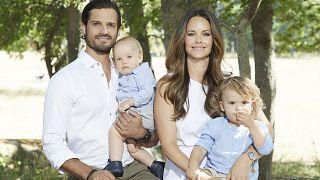Il principe Carlo Filippo, la principessa Sofia, il principino Alexander e il fratello Gabriel