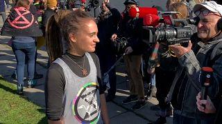 Klimaprotest mit Carola Rackete