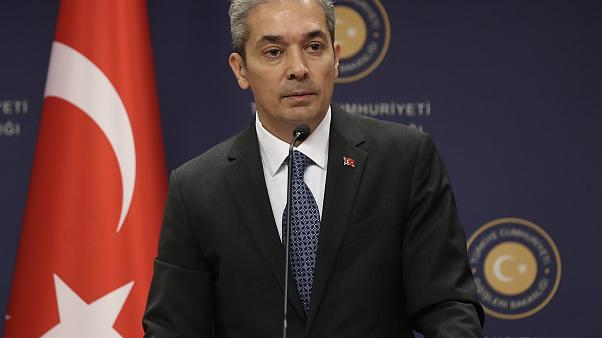ANKARA, TURKEY - AUGUST 02: Turkish Foreign Ministry Spokesman Hami Aksoy ( Fatih Aktaş - Anadolu Agency )
