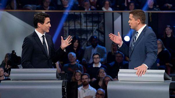 مناظره انتخاباتی کانادا؛ رهبر اصلی اپوزیسیون ترودو را متقلب خطاب کرد