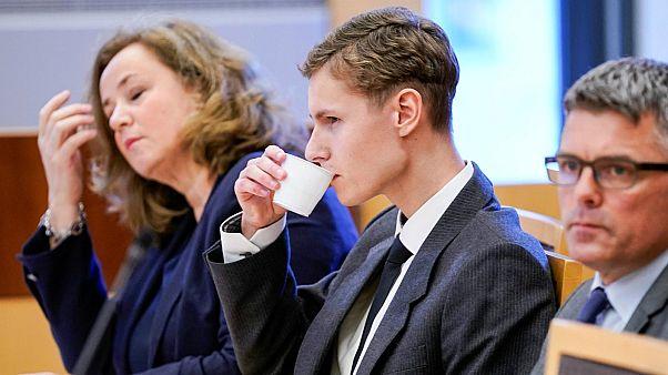 المتهم فيليب مانشاوس في محكمة أوسلو- أرشيف رويترز