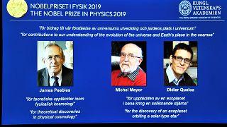 Nobel da Física para Peebles, Mayor e Queloz