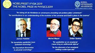 Nobel Fizik Ödülü uzay çalışmalarından dolayı James Peebles, Michel Mayor ve Didier Queloz'a verildi