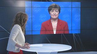 Η επικεφαλής του ΔΝΤ, Κρισταλίνα Γκεοργκίεβα, στο Euronews