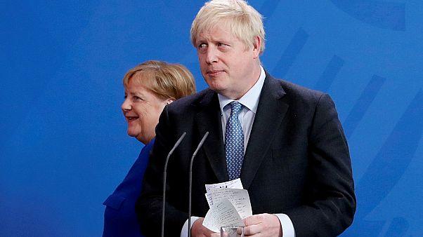 Angela Merkel e Boris Johnson (arquivo)