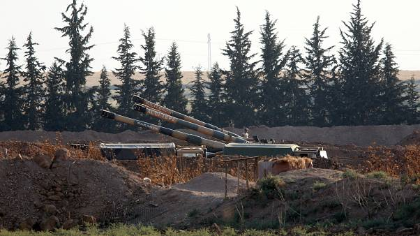 Turkish missiles on the Syrian border