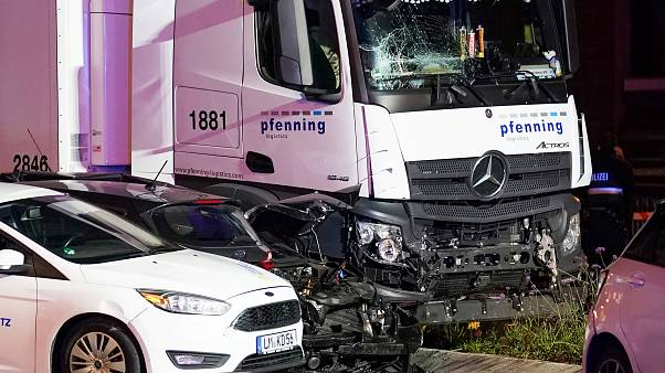 Several people were injured when a stolen truck drove into vehicles during rush hour in Limburg