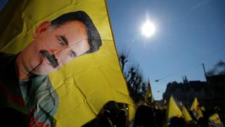 Pro-kurdische Proteste in Solidarität mit Abdullah Öcalan in Straßburg