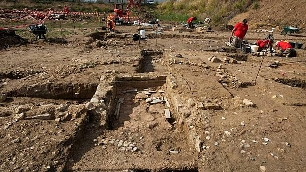 Vue d'ensemble du chantier de fouilles à Narbonne