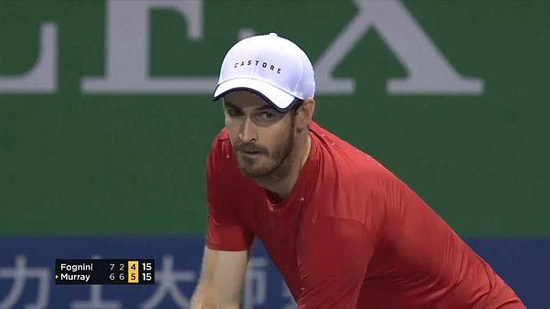 Tennis, Shanghai: Fognini batte Murray, avanti anche Federer