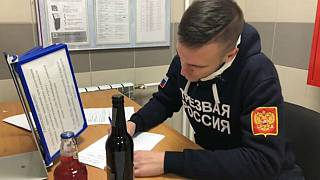 Activists from Sover Russia counduct counter-feit alcohol raids
