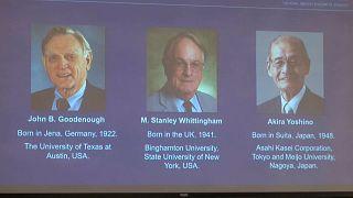 """El Nobel de Química premia a los """"padres"""" de las baterías de iones de litio"""