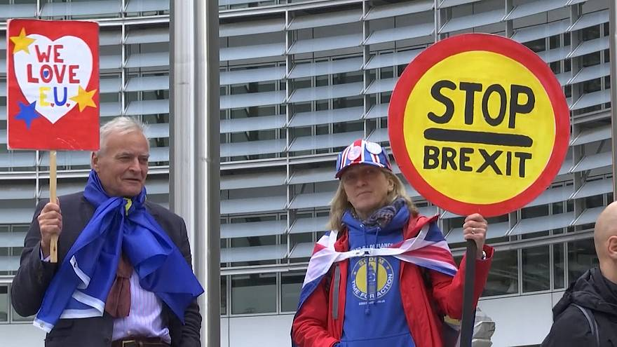 Brexit-Gegner demonstrieren in Brüssel