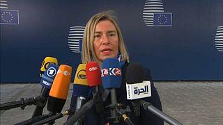 Iran nuclear deal tops agenda at talks between Pompeo and EU officials