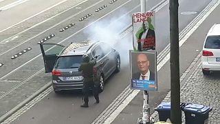 شاهد: لحظة الهجوم على كنيس يهودي ومطعم تركي في ألمانيا