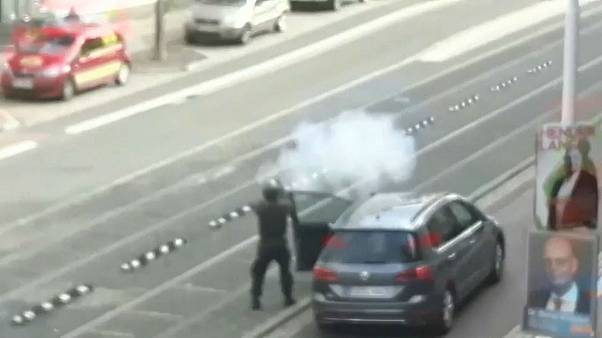 Amateur footage emerges of gunman opening fire in Halle, Germany