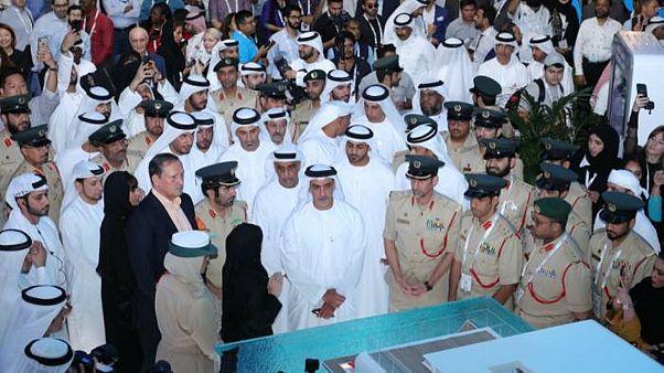 ماکت پاسگاه شناور پلیس در نمایشگاه فناوری جیتکس دوبی