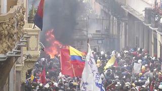 Mehr als 670 Festnahmen: Protestwelle in Ecuador geht weiter