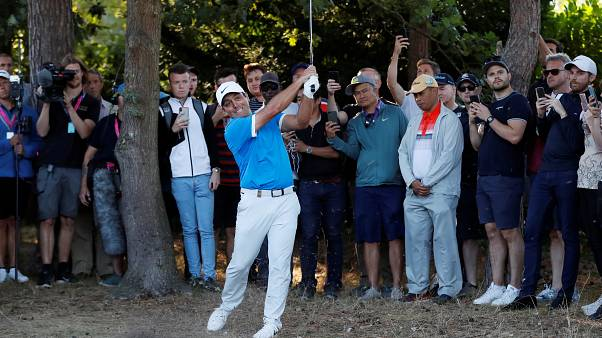 Francesco Molinari, qui impegnato al British Open 2019.