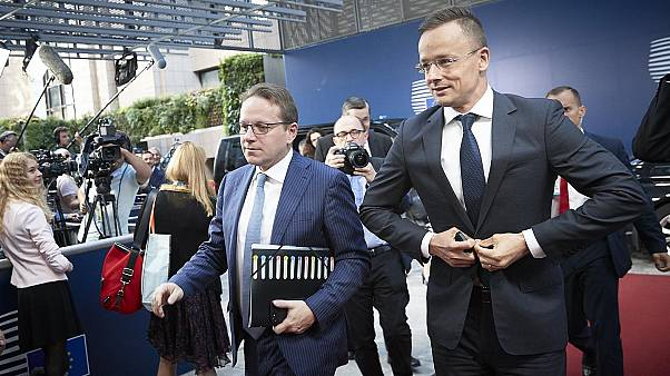 Macaristan Dışişleri Bakanı Peter Szijjarto ve AB Daimi Temsilcisi Oliver Varhelyi