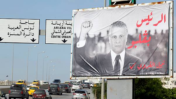 لوحة إعلانية لحملة انتخابية لنبيل القروي- أرشيف رويترز