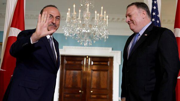 Türkiye Dışişleri Bakanı Mevlüt Çavuşoğlu ve ABD Dışişleri Bakanı Mike Pompeo, 20 Kasım 2018