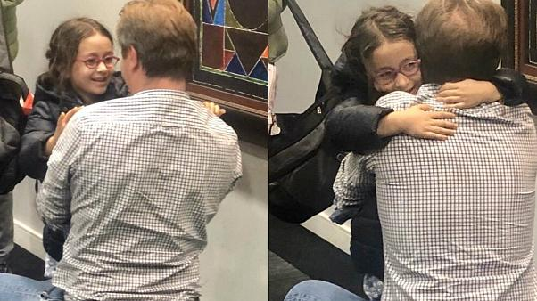Richard Ratcliffe and his daughter Gabrielle are reunited on october 10, 2019.