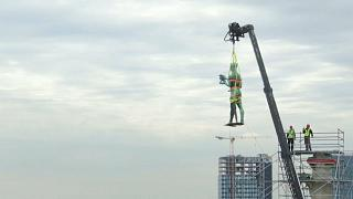 Watch: Belgrade's The Victor monument removed for restoration