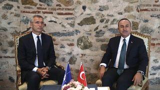 Dışişleri Bakanı Mevlüt Çavuşoğlu, NATO Genel Sekreteri Jens Stoltenberg ile Dolmabahçe Sarayı'nda görüştü